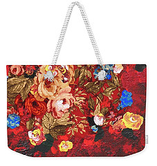Weekender Tote Bag featuring the painting Baba's Garden Lg by Alys Caviness-Gober