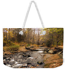 Babbling Brook In Autumn Weekender Tote Bag