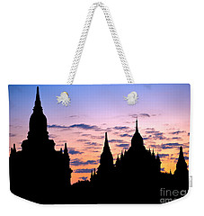 Weekender Tote Bag featuring the photograph Bagan by Luciano Mortula