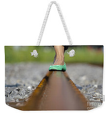 Balance With Her Feet Weekender Tote Bag