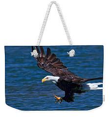 Bald Eagle On The Hunt Weekender Tote Bag