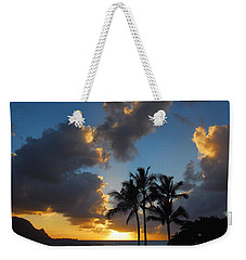 Weekender Tote Bag featuring the photograph Bali Hai Sunset by Lynn Bauer
