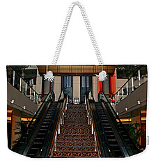 Weekender Tote Bag featuring the photograph Baltimore Stairway by Karen Harrison