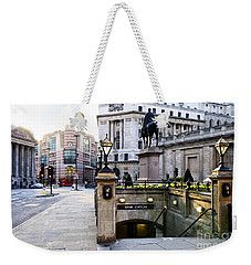 Bank Station Entrance In London Weekender Tote Bag by Elena Elisseeva