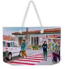Bar Ristorante Mt. Etna Sicily Weekender Tote Bag by Frank Hunter