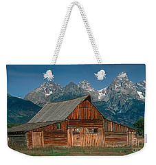 Barn And Tetons Weekender Tote Bag by Jerry Fornarotto