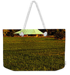 Weekender Tote Bag featuring the photograph Barn In The Style Of The 60s by Mick Anderson
