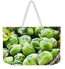 Basket Of Brussels Sprouts Weekender Tote Bag by Elena Elisseeva