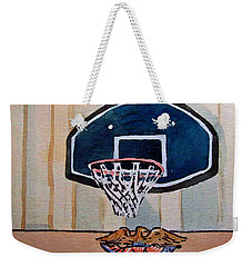 Basketball Hoop Sketchbook Project Down My Street Weekender Tote Bag by Irina Sztukowski
