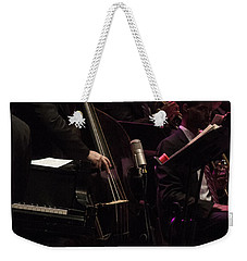 Bass Player Jams Jazz Weekender Tote Bag
