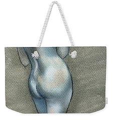 Weekender Tote Bag featuring the drawing Bath Time by Julie Brugh Riffey