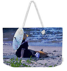 Bather By The Bay - Square Cropping Weekender Tote Bag