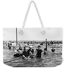 Bathing In The Gulf Of Mexico - Galveston Texas  C 1914 Weekender Tote Bag