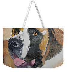 Weekender Tote Bag featuring the painting Baxter by Norm Starks