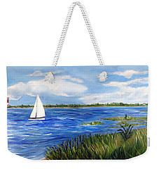 Bayville Marsh Weekender Tote Bag by Clara Sue Beym