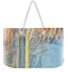 Beach Fence Weekender Tote Bag by Lynne Jenkins