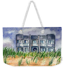 Weekender Tote Bag featuring the painting Beach House by Clara Sue Beym