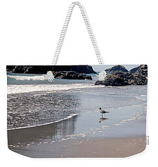 Weekender Tote Bag featuring the photograph Beachcomber by Sharon Elliott