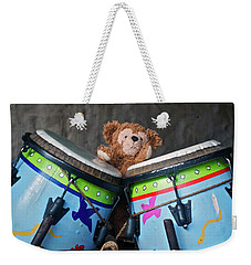 Weekender Tote Bag featuring the photograph Bear And His Drums At Walt Disney World by Thomas Woolworth