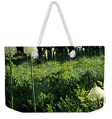 Weekender Tote Bag featuring the photograph Bear-grass II by Sharon Elliott