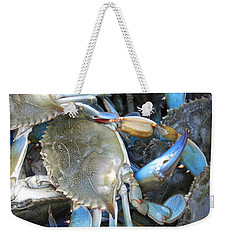 Weekender Tote Bag featuring the photograph Beaufort Blue Crabs by Patricia Greer