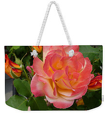 Weekender Tote Bag featuring the photograph Beautiful Rose With Buds by Lingfai Leung