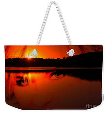 Weekender Tote Bag featuring the photograph Beauty Looks Back by Clayton Bruster