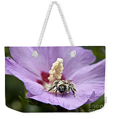 Bee Covered In Pollen  Weekender Tote Bag by Jeannette Hunt