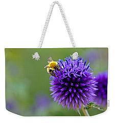 Bee On Garden Flower Weekender Tote Bag