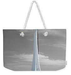 Weekender Tote Bag featuring the photograph Belize City Lighthouse Color Splash Black And White by Shawn O'Brien