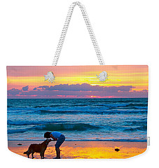 Weekender Tote Bag featuring the photograph Bella At Sunrise by Alice Gipson