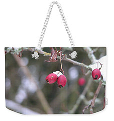 Berries In Winter Weekender Tote Bag