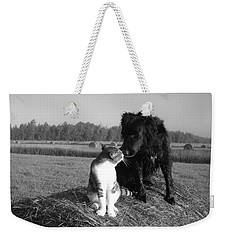 Best Buddies Black And White Weekender Tote Bag