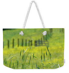 Weekender Tote Bag featuring the photograph Beyond The Weeds by EricaMaxine  Price
