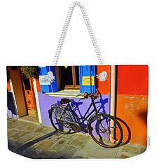 Bicycle Stance Burano Italy Weekender Tote Bag