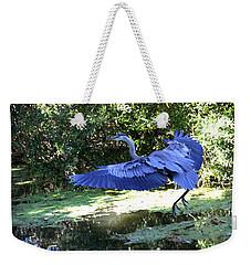 Big Blue In Flight Weekender Tote Bag