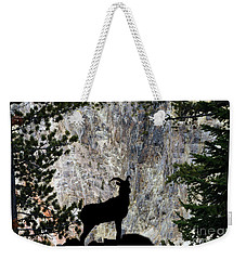 Weekender Tote Bag featuring the photograph Big Horn Sheep Silhouette by Dan Friend