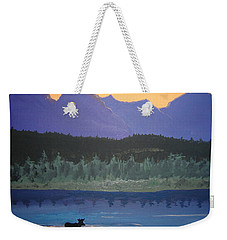 Weekender Tote Bag featuring the painting Big Sky Country by Norm Starks