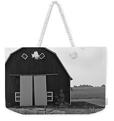 Big Tooth Barn Black And White Weekender Tote Bag