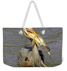 Bigger Fish To Fry Weekender Tote Bag by Robert Frederick