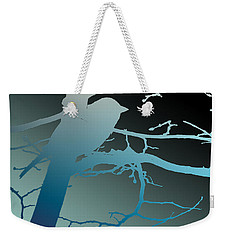 Weekender Tote Bag featuring the photograph Bird At Twilight by Lauren Radke