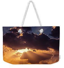 Bird In Sunrise Rays Weekender Tote Bag
