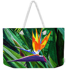 Bird-of-paradise Weekender Tote Bag by Mike Robles