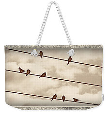 Birds On Wires Weekender Tote Bag