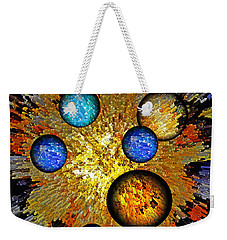 Weekender Tote Bag featuring the digital art Birth Of Time by Lynda Lehmann