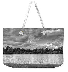 Weekender Tote Bag featuring the photograph Black And White Autumn Day by Michael Frank Jr