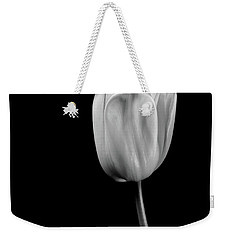 Black And White Tulip Weekender Tote Bag