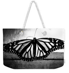 Weekender Tote Bag featuring the photograph Black Butterfly by Julia Wilcox