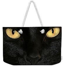 Black Cat Halloween Card Weekender Tote Bag