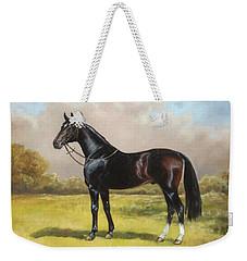 Black English Horse Weekender Tote Bag
